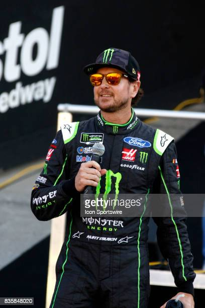 Kurt Busch StewartHaas Racing Monster Energy/Haas Automation Ford Fusion during the running of the 57th annual Bass Pro Shops NRA Night Race 500 on...