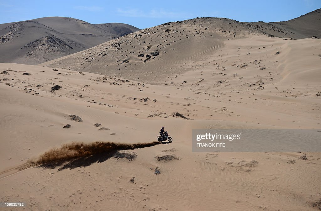 US Kurt Caselli competes during the Stage 12 of the Dakar 2013 between Fiambala, Argentina and Copiapo, Chile, on January 17, 2013. The rally takes place in Peru, Argentina and Chile between January 5 and 20.