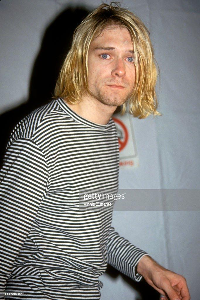 Kurt Cobain attending the 1993 MTV Video Music Awards at Universal City, CA
