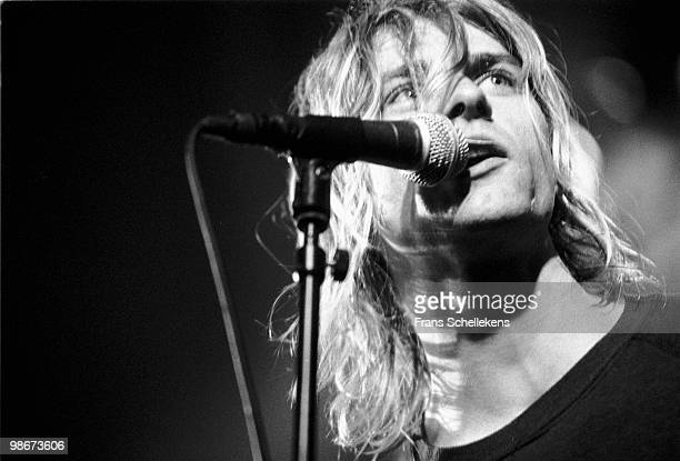 Kurt Cobain from Nirvana performs live on stage at Paradiso in Amsterdam Netherlands on November 25 1991