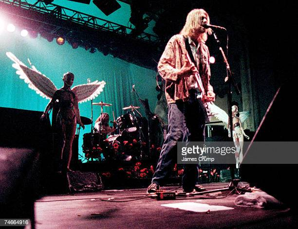 Kurt Cobain of Nirvana at the Aragon Ballroom in Chicago Illinois