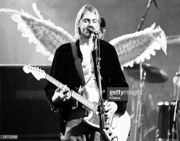 Kurt Cobain of Nirvana during Kurt Cobain File Photos at the The Pier in Seattle Washington