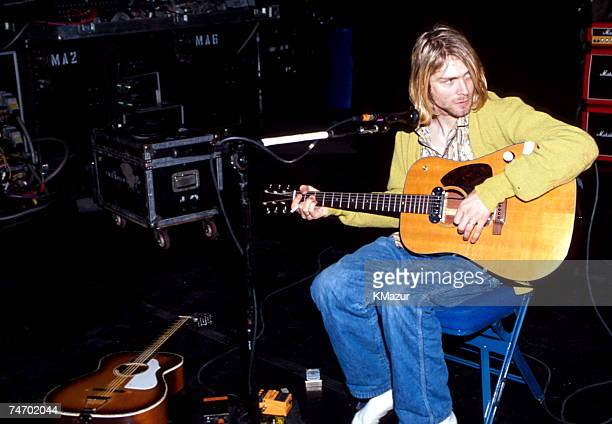 Kurt Cobain of Nirvana during Nirvana in New York New York