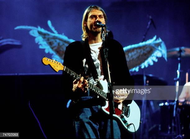 Kurt Cobain of Nirvana in New York City New York