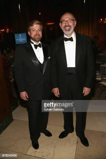 Kurt Decker and John Rusk attend 2017 ICAA Arthur Ross Awards at The University Club on May 1 2017 in New York City