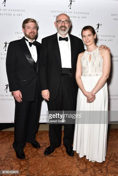 Kurt Decker John Rusk and Caitlynn Brown attend 2017 ICAA Arthur Ross Awards at The University Club on May 1 2017 in New York City
