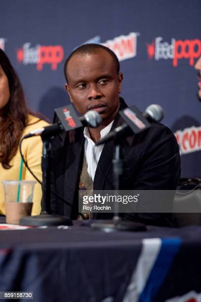 Kurt Egyiawan attends the 'The Exorcist' panel during the 2017 New York Comic Con Day 4 on October 8 2017 in New York City