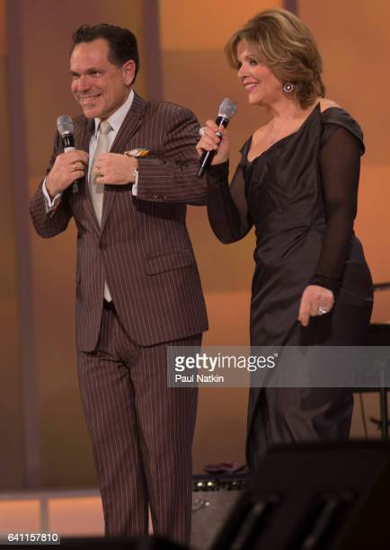 Kurt Elling and Renee Fleming perform at the Chicago Voices Concert at the Lyric Opera House in Chicago Illinois February 4 2017