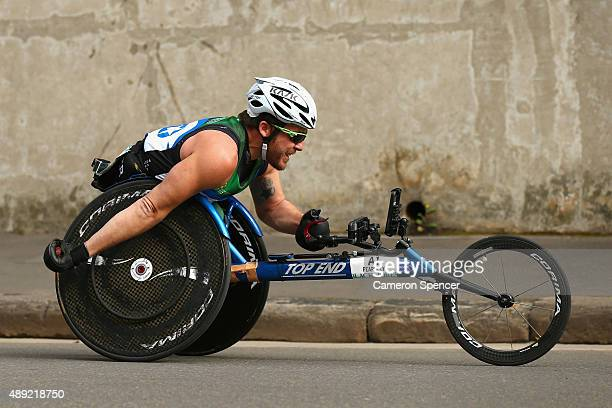 Kurt Fearnley competes in the Sydney marathon during the Blackmores Sydney Running Festival on September 20 2015 in Sydney Australia