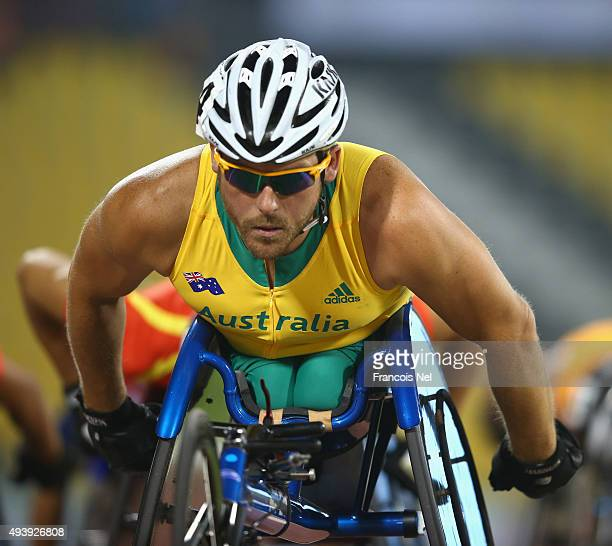 Kurt Fearnley of Australia competes in the men's 1500m T54 heats during the Evening Session on Day Two of the IPC Athletics World Championships at...