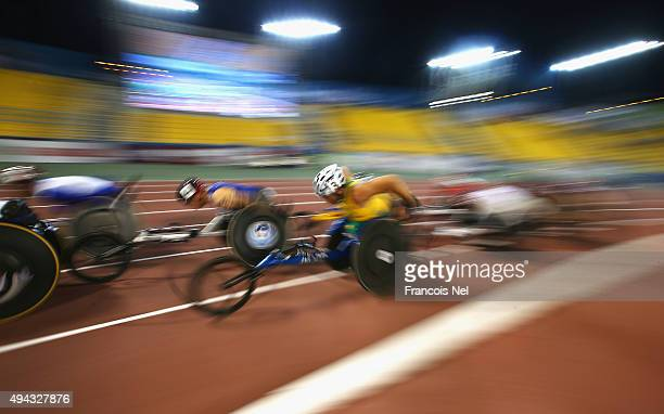 Kurt Fearnley of Australia competes in the men's 5000m T54 final during the Evening Session on Day Five of the IPC Athletics World Championships at...