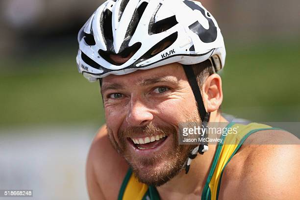 Kurt Fearnley of New South Wales looks on before the mens 1500m wheelchair race during the Australian Athletics Championships at Sydney Olympic Park...