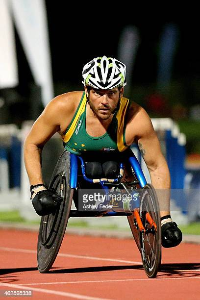 Kurt Fearnley of NSW prepares to race the Mens Elite Wheelchair Mile during the 2015 Hunter Track Classic on January 31 2015 in Newcastle Australia