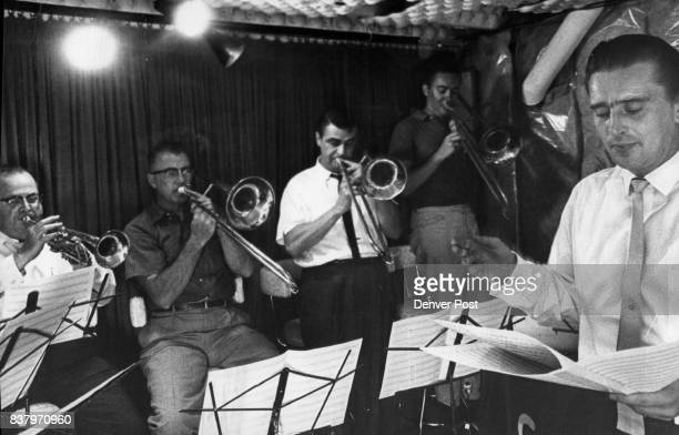 Kurt Goletz Conducts The Trombone Section of The 17Piece Studio Orchestra At $10 per man hour it is understandable that the operator of the recording...