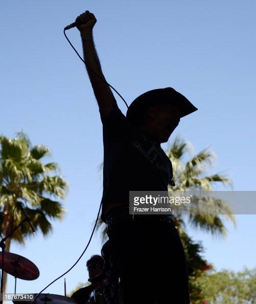 Kurt 'Jet Rash' Ross of the The Honkytonk Angels performs onstage during 2013 Stagecoach California's Country Music Festival held at The Empire Polo...