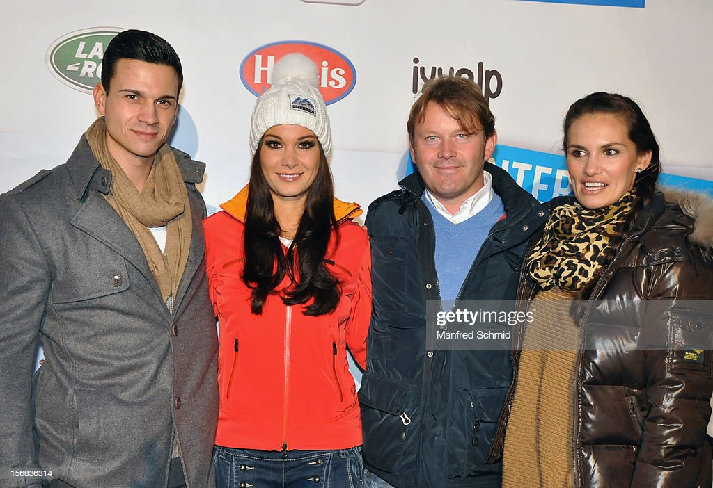 Kurt Kases, Carmen Stamboli, Andy Wernig and Tanja Duhovich attend the Swatch Snow Mobile 2012 press conference at Graben on November 22, 2012 in Vienna, Austria.