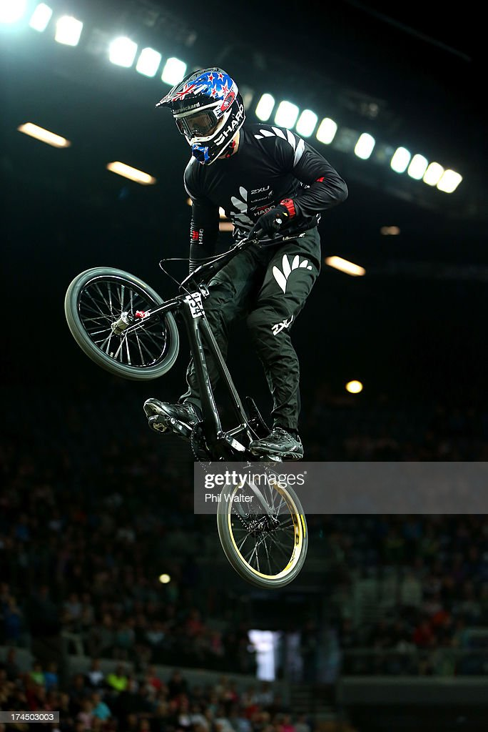 Kurt Pickard of New Zealand competes in the Elite Mens time trial during day four of the UCI BMX World Championships at Vector Arena on July 27, 2013 in Auckland, New Zealand.
