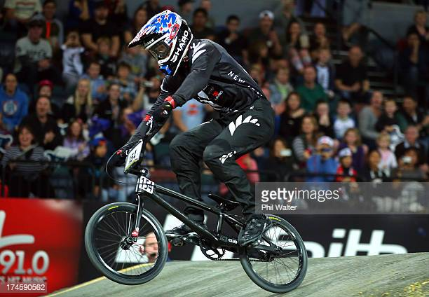 Kurt Pickard of New Zealand in action during day five of the UCI BMX World Championships at Vector Arena on July 28 2013 in Auckland New Zealand