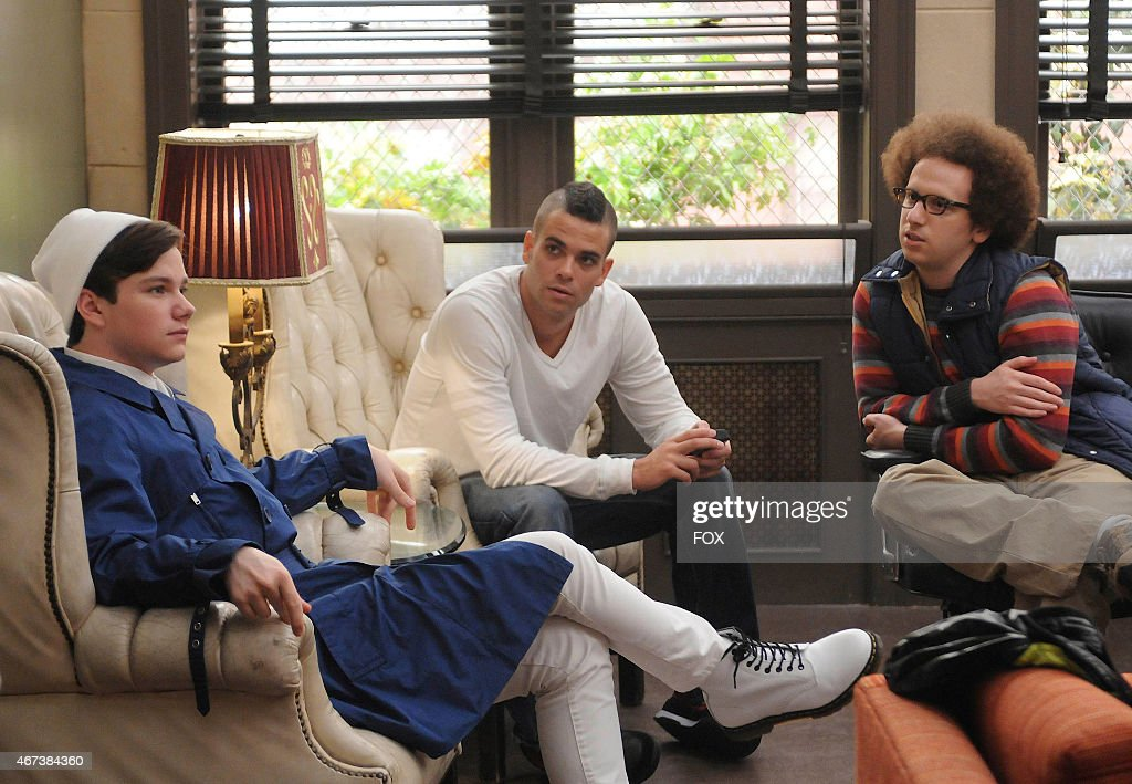 Kurt Puck and Jacob discuss a strategy for sectionals in the 'Sectionals' fall finale episode of GLEE airing Wednesday Dec 9 on FOX