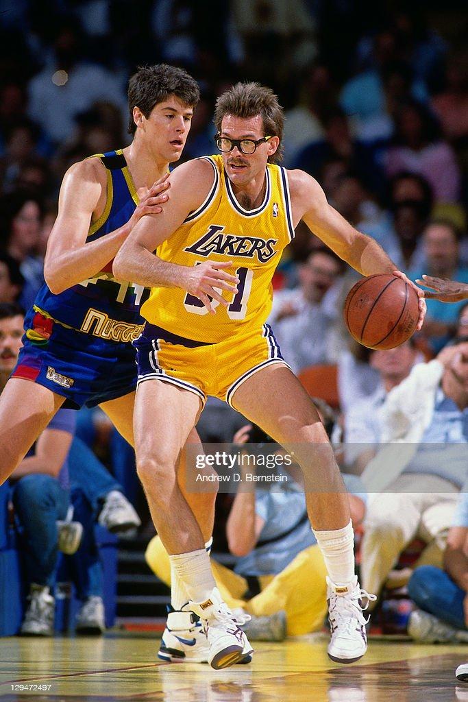 90d6998dd1b Kurt Rambis, Los Angeles Lakers Kurt Rambis 31 of the Los Angeles Lakers  posts up against the Denver Nuggets circa ...