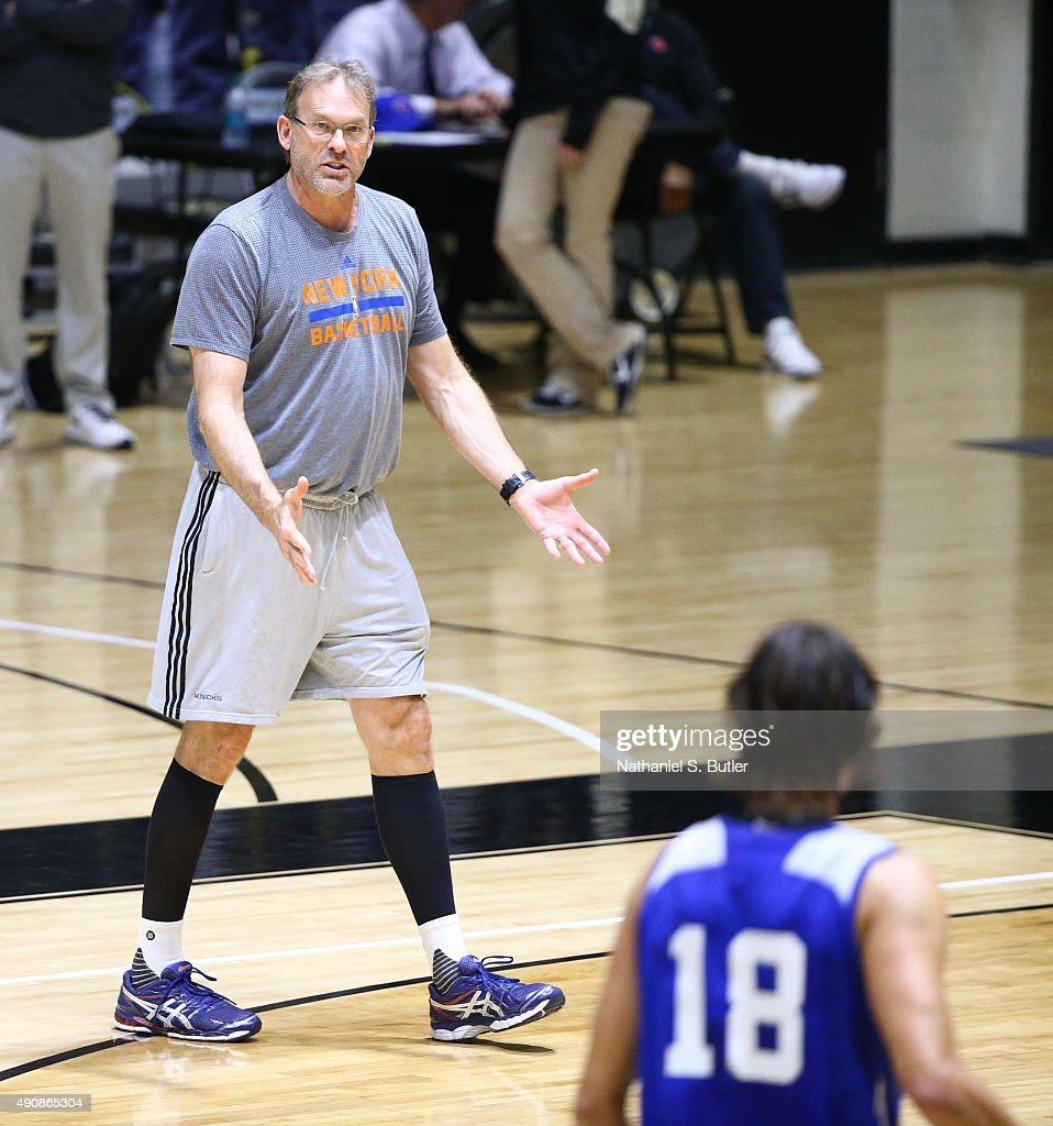 Kurt Rambis of the New York Knicks participates at practice on September 30 2015 at West Point NOTE TO USER User expressly acknowledges and agrees...