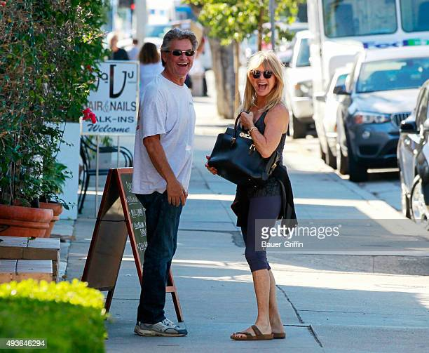 Kurt Russell and Goldie Hawn are seen on October 21 2015 in Los Angeles California
