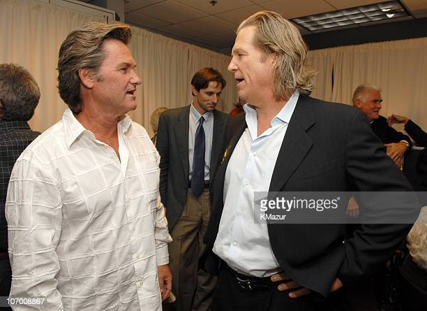 Kurt Russell and Jeff Bridges during Barbra Streisand in Concert at the Staples Center Backstage and Audience at Staples Center in Los Angeles...
