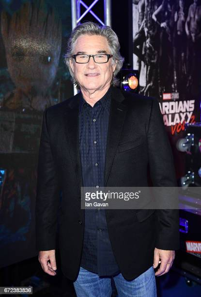 Kurt Russell attends the European launch event of Marvel Studios' 'Guardians of the Galaxy Vol 2' at the Eventim Apollo on April 24 2017 in London...