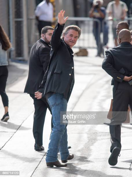Kurt Russell is seen at 'Jimmy Kimmel Live' on April 17 2017 in Los Angeles California