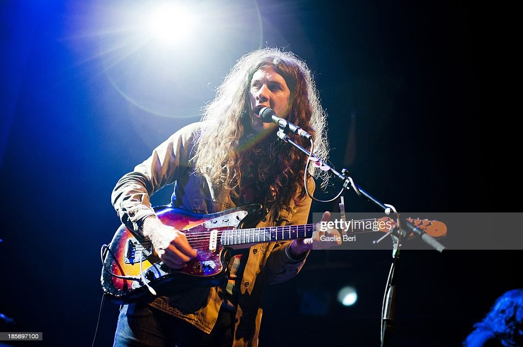 Kurt Samuel Vile performs on stage at Terminal 5 on October 25, 2013 in New York, New York.