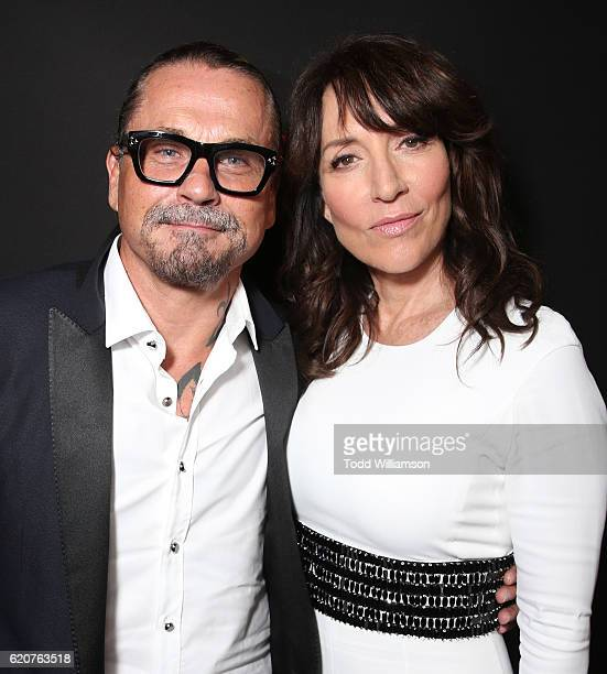 Kurt Sutter and Katey Sagal attend the Premiere Of Open Road Films' 'Bleed For This' at the Samuel Goldwyn Theater on November 2 2016 in Beverly...