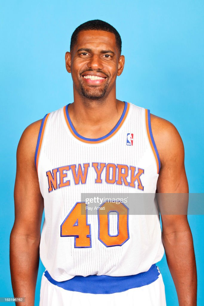 Kurt Thomas #40 of the New York Knicks poses for a photo during the New York Knicks Media Day on October 1, 2012 at the Madison Square Garden Training Center in Tarrytown, New York.
