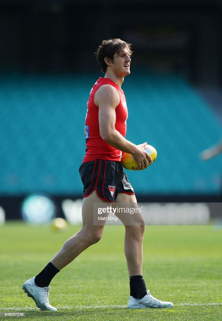 Kurt Tippett of the Swans looks on during a Sydney Swans AFL training session at Sydney Cricket Ground on September 13, 2017 in Sydney, Australia.