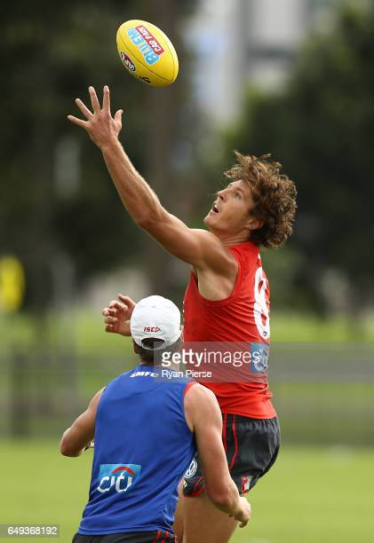 Kurt Tippett of the Swans trains during a Sydney Swans AFL training session at Lakeside Oval on March 8 2017 in Sydney Australia