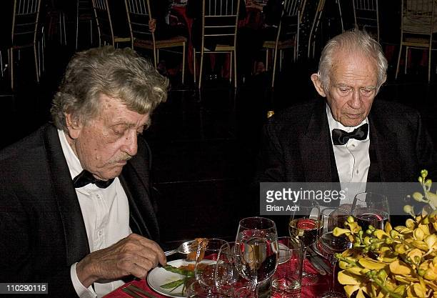 Kurt Vonnegut and Norman Mailer during 13th Annual Living Landmarks Gala Benefiting the New York Landmarks Conservancy at Cipriani in New York City...
