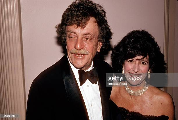Kurt Vonnegut and wife Jill Krementz circa 1990 in New York City