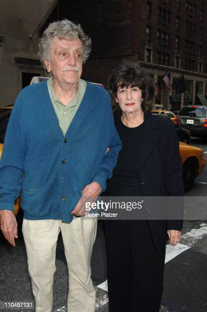 Kurt Vonnegut and wife Jill Krementz during 'A Prairie Home Companion' New York Premiere Arrivals at DGA Movie Theatre in New York City New York...