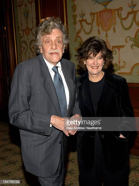 Kurt Vonnegut Jr and wife Jill Krementz during 2004 Writers Guild of America East Awards Arrivals at Pierre Hotel in New York City New York United...