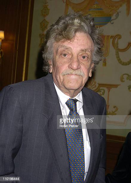 Kurt Vonnegut Jr during The 56th Annual Writers Guild of America Awards East Arrivals at The Pierre Hotel in New York City New York United States
