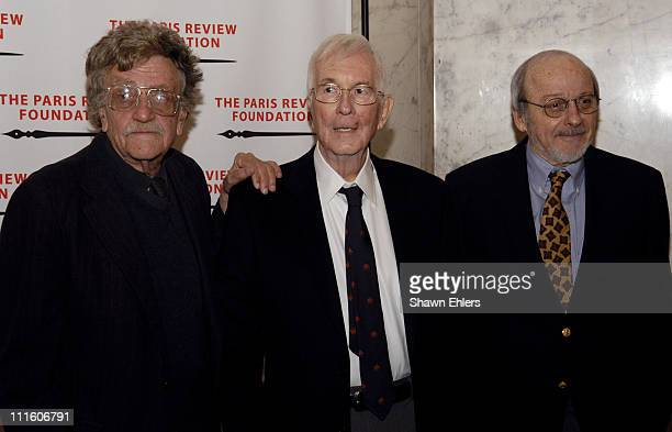 Kurt Vonnegut William Styron and EL Doctorow during The Paris Review Foundation Presents Fall Revel Honoring William Styron at Cipriani at 200 Fifth...