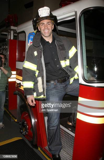 Kurt Warner attends Duracell's Power Those Who Protect Us campaign launch at the FDNY Fire Zone on January 31 2011 in New York City