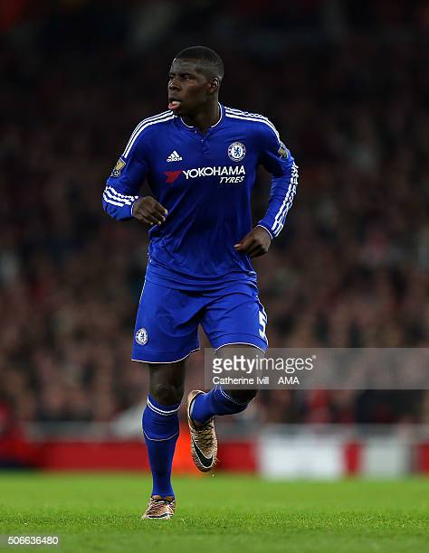 Kurt Zouma of Chelsea during the Barclays Premier League match between Arsenal and Chelsea at the Emirates Stadium on January 24 2016 in London...