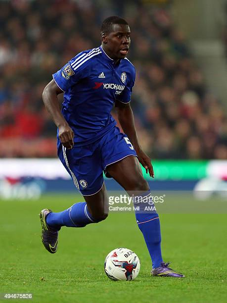 Kurt Zouma of Chelsea during the Capital One Cup Fourth Round match between Stoke City and Chelsea at Britannia Stadium on October 27 2015 in Stoke...