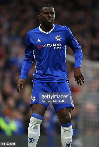 Kurt Zouma of Chelsea during the Emirates FA Cup Third Round between Chelsea and Peterborough United at Stamford Bridge on January 8 2017 in London...