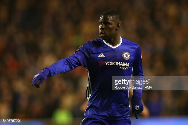 Kurt Zouma of Chelsea gestures during the Emirates FA Cup Fifth Round match between Wolverhampton Wanderers and Chelsea at Molineux on February 18...