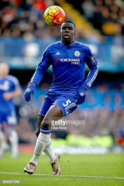Kurt Zouma of Chelsea in action during the Barclays Premier League match between Chelsea and Everton at Stamford Bridge on January 16 2016 in London...