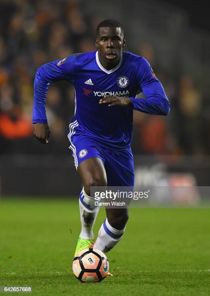 Kurt Zouma of Chelsea in action during The Emirates FA Cup Fifth Round match between Wolverhampton Wanderers and Chelsea at Molineux on February 18...