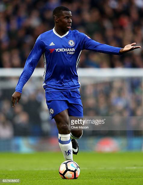 Kurt Zouma of Chelsea in action during the Emirates FA Cup Fourth Round match between Chelsea and Brentford at Stamford Bridge on January 28 2017 in...