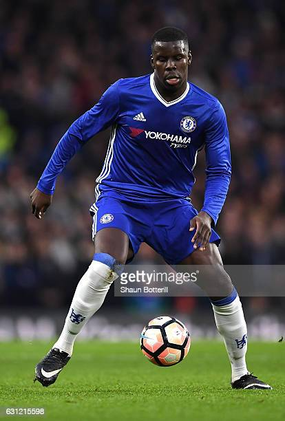 Kurt Zouma of Chelsea in action during The Emirates FA Cup Third Round match between Chelsea and Peterborough United at Stamford Bridge on January 8...