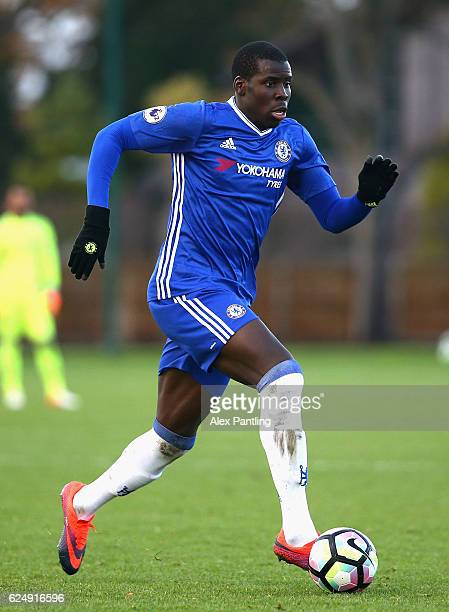 Kurt Zouma of Chelsea in action during the Premier League 2 match between Chelsea and Southampton at Chelsea Training Ground on November 21 2016 in...